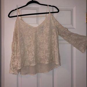 Off the shoulder knit blouse